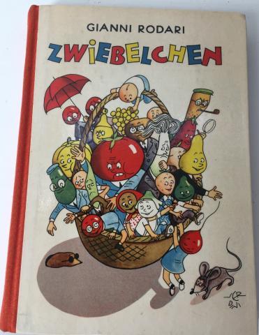 Copertina - Gianni Rodari, Zwiebelchen. Ein Roman, illustrazioni di Raul Verdini, Der Kinderbuchverlag, Berlin, 1956, tradotto dall'italiano da Pan Rova.