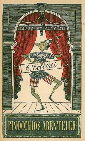 Copertina - Carlo Collodi,  Pinocchios Abenteuer, Aufbau-Verlag, Berlin, 1954, tradotto dall'italiano da Pan Rova