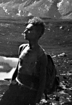 Primo Levi at Ponton Lake, Valle d'Aosta, 28th August, 1942. Property of the Levi family.