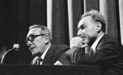 Primo Levi and Nuto Revelli, November 10 1978. Copyright La Stampa